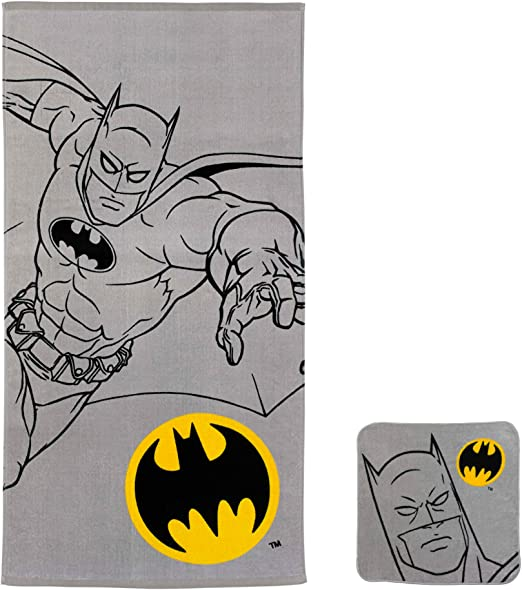 "NEW Kids Batman Hooded Towel 24"" X 50"" Bath Beach"