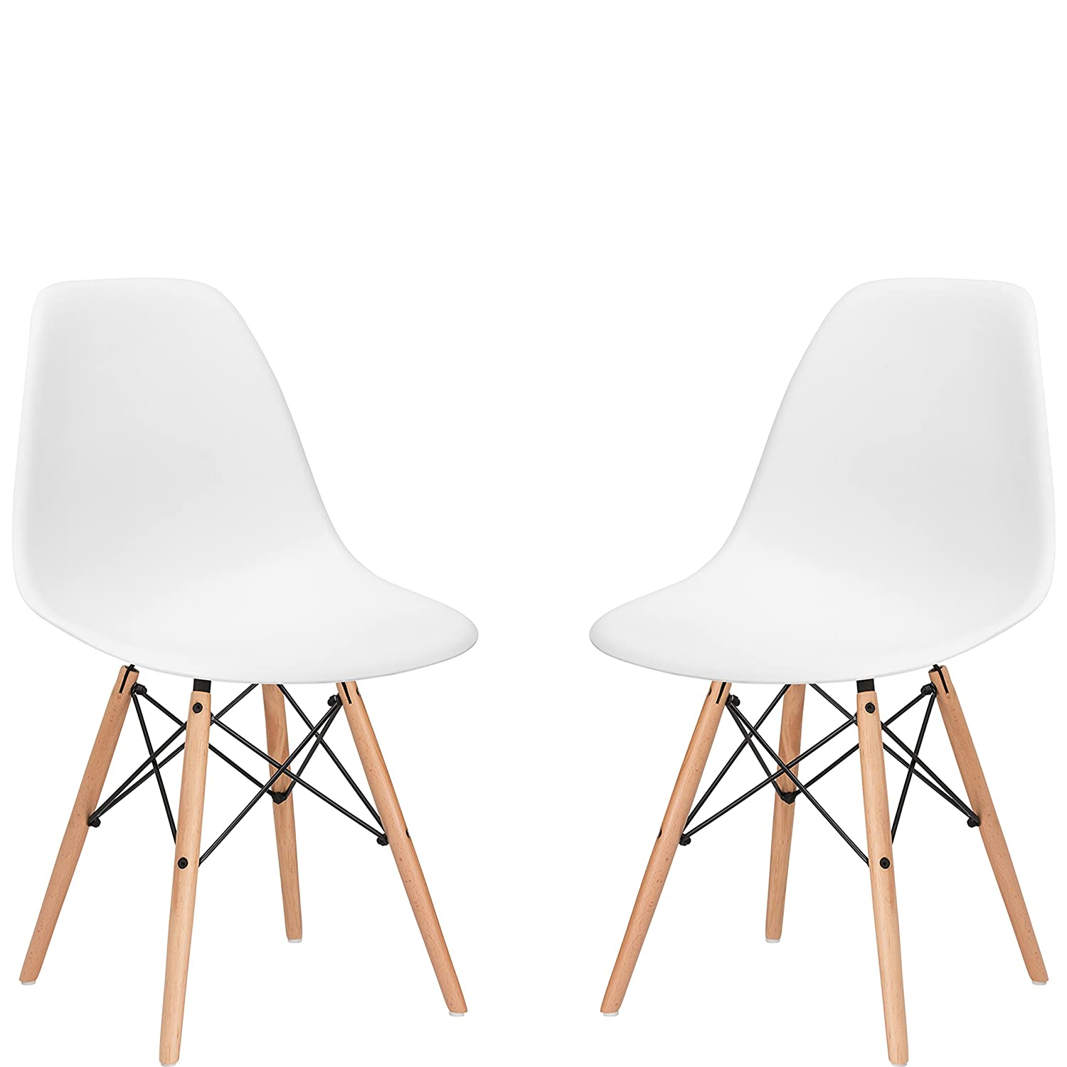 Amazon.com: Poly and Bark Vortex Side Chair, White, Set of 2 ...