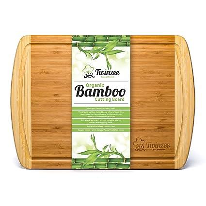 Tagliere in Bambù Biologico EXTRA LARGE con Scanalature - Il Miglior ...