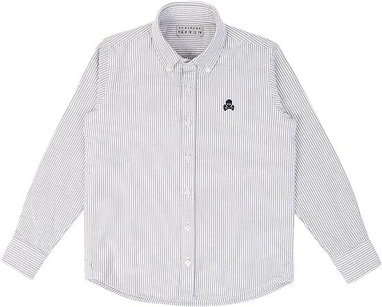 Scalpers Camisa Rayas Oxford - Khaki / 6