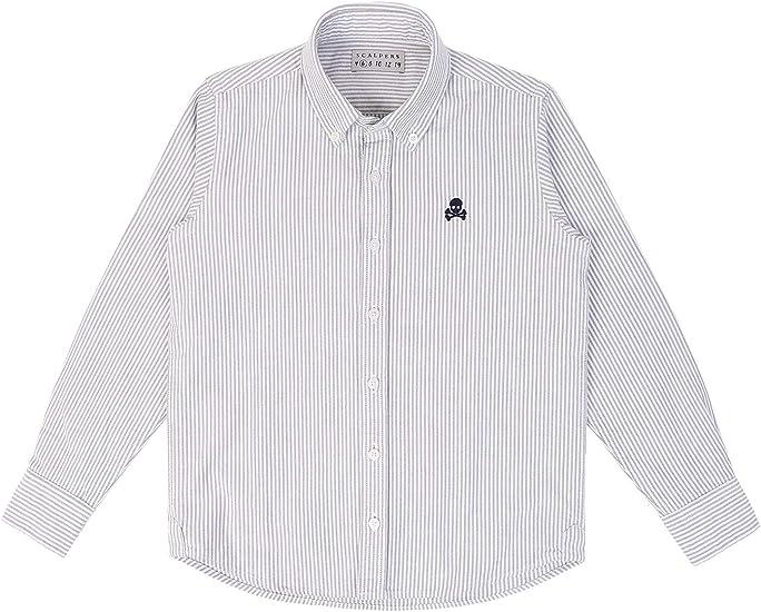 Scalpers Camisa Rayas Oxford - Khaki / 6: Amazon.es: Ropa y accesorios
