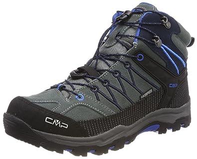 CMP Rigel Mid WP, Chaussures de Randonnée Hautes Mixte Adulte, Turquoise (Royal-Frog), 35 EU