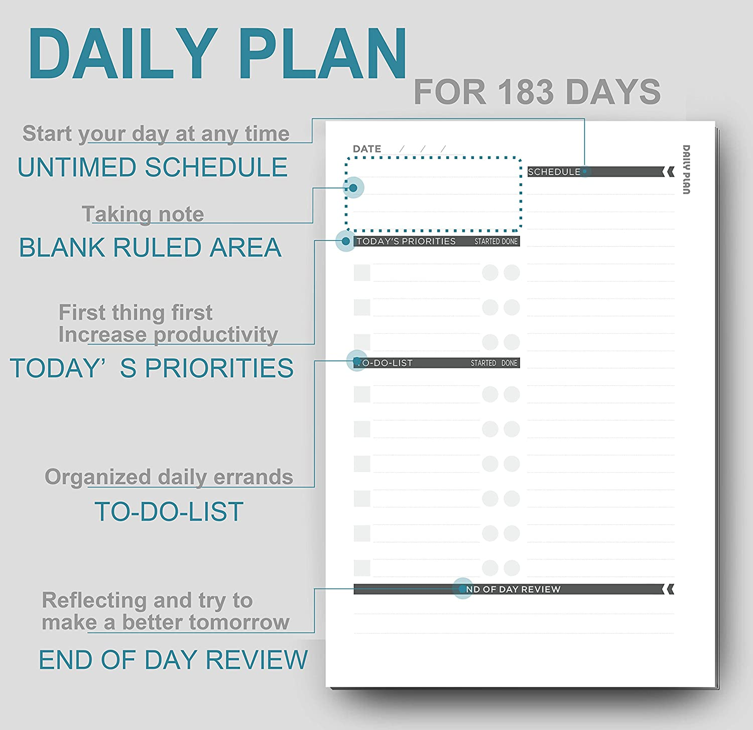 Undated Daily Monthly Planner 2018 Calendar Stickers And To Do