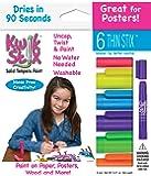 The Pencil Grip Kwik Stix Thins Solid Tempera Paint, Neon Colors, Set of 6