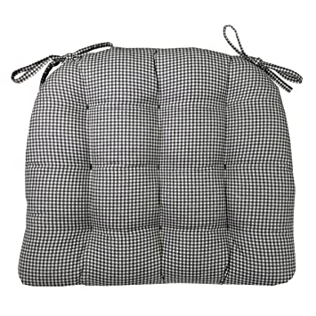 Exceptional Amazon.com: Barnett Products Dining Chair Pad With Ties   Black U0026 White  Madrid Gingham Check   Standard Size   Reversible, Tufted Seat Cushion,  Latex Foam ...