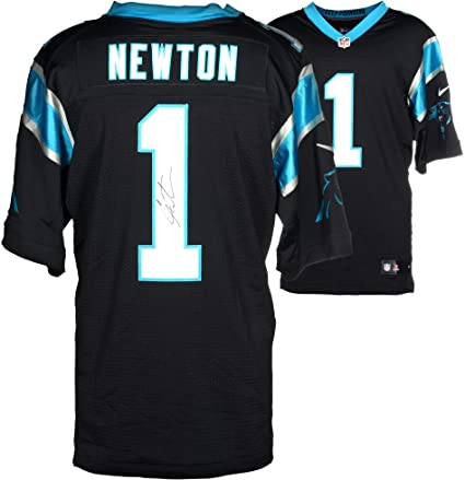 low cost 5b8bb 0ef55 Cam Newton Carolina Panthers Autographed Nike Limited Black ...
