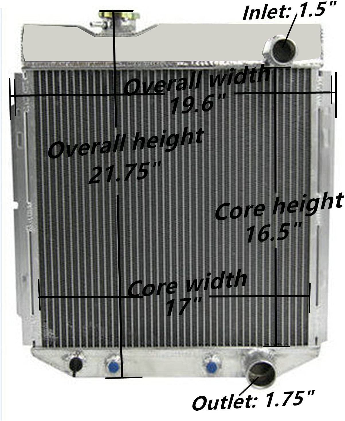 Radiator-1 Row Plastic Tank Aluminum Core CSF 3515