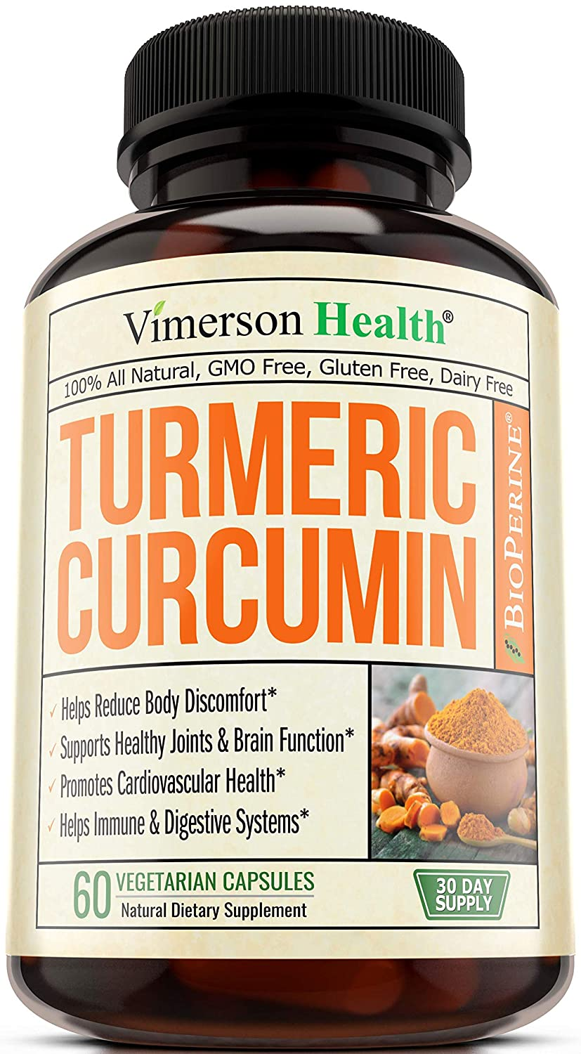 Turmeric Curcumin with Bioperine Joint Pain Relief  Anti-Inflammatory,  Antioxidant Supplement with 10 milligrams of Black Pepper for Better