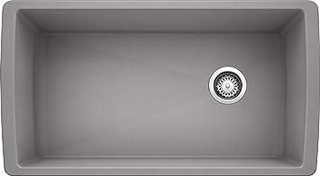Blanco 441770 Diamond Super Single Bowl Sink Metallic Gray