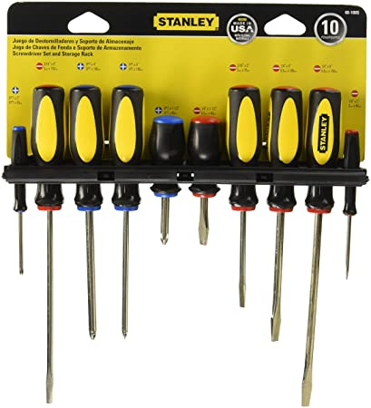 Stanley 60-100 10-Piece Set Destornilladores: Amazon.es: Bricolaje y ...