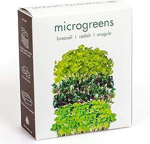 Microgreens Growing Kit | 3 Variety Pack Non-GMO | Broccoli | Radish | Arugula | Healthy Sprouts | Urban Botanic