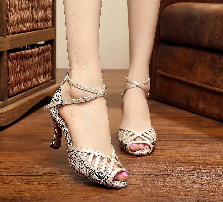 Miyoopark KQJ7078 Womens Cut-Out Synthetic Latin Salsa Tango Wedding Sandals