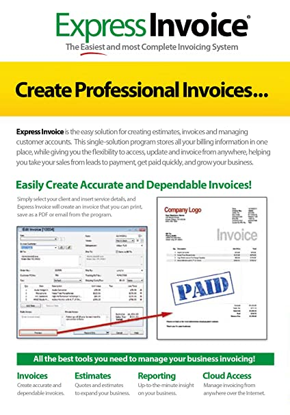 Blank Commercial Invoice Excel Amazoncom Express Invoice Professional Invoicing Software Pcmac Permanent Resident Card Receipt Number Excel with Sending Invoices  Ups Tracking Invoice Number Word
