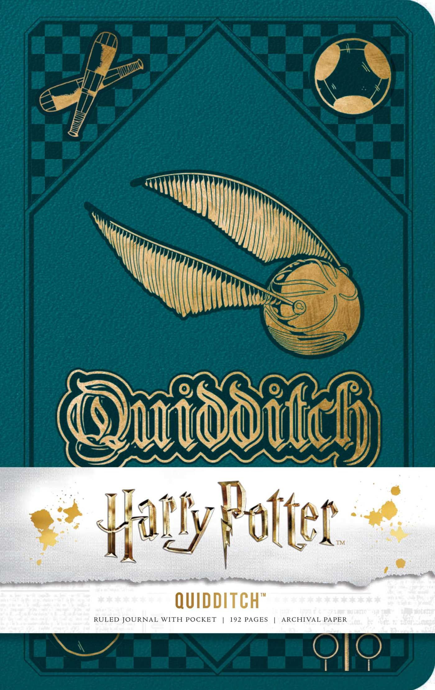 Amazon.com: Harry Potter: Quidditch Hardcover Ruled Journal ...