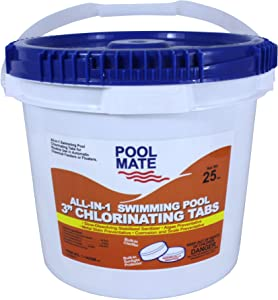 Pool Mate 1-1425M All-in-1 Swimming Pool 3-Inch Chlorinating Tablets, 25-Pound