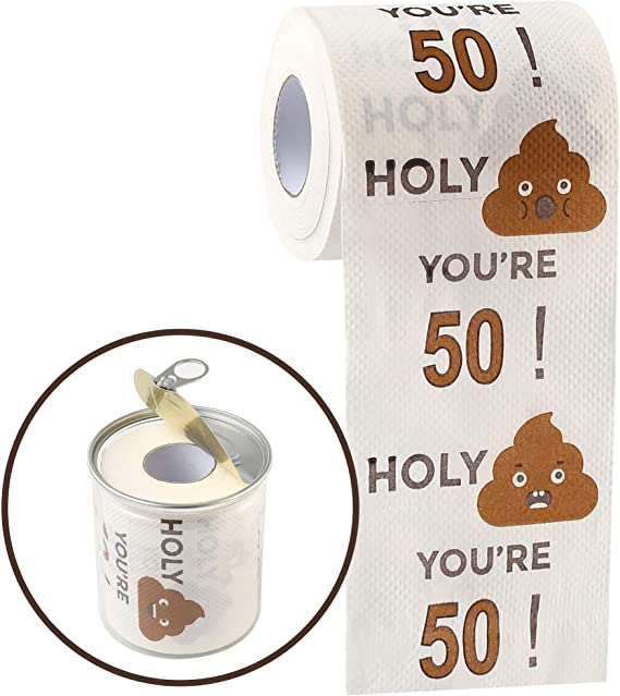Funny Toilet Paper Roll | 50th Birthday Toilet Paper - Funny gift for 50 Year Olds