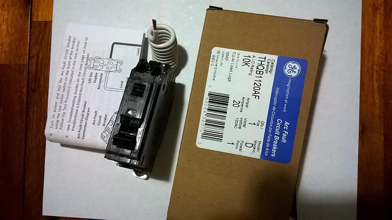 Generel Electric Ge1 Pole Arc Fault Afci Bolt On Circuit Breaker 15 Amp 120 240 Volt Ac 1pole Plugon Thqb1120af Poles1 Voltage Rating120 V Current Rating20 Ampere Interrupting