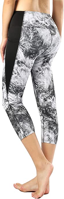 Amazon.com : Sugar Pocket Womens Capris Workout Running ...