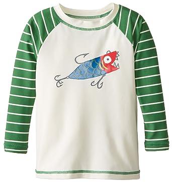 4f9eabcc3551f Amazon.com: Hatley Little Boys' Fishing Lures Rash Guard: Clothing