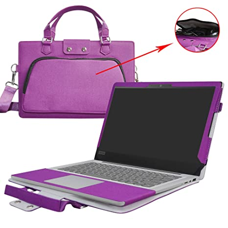 Ideapad 120S 14 Case,2 in 1 Accurately Designed Protective PU Leather Cover + Portable