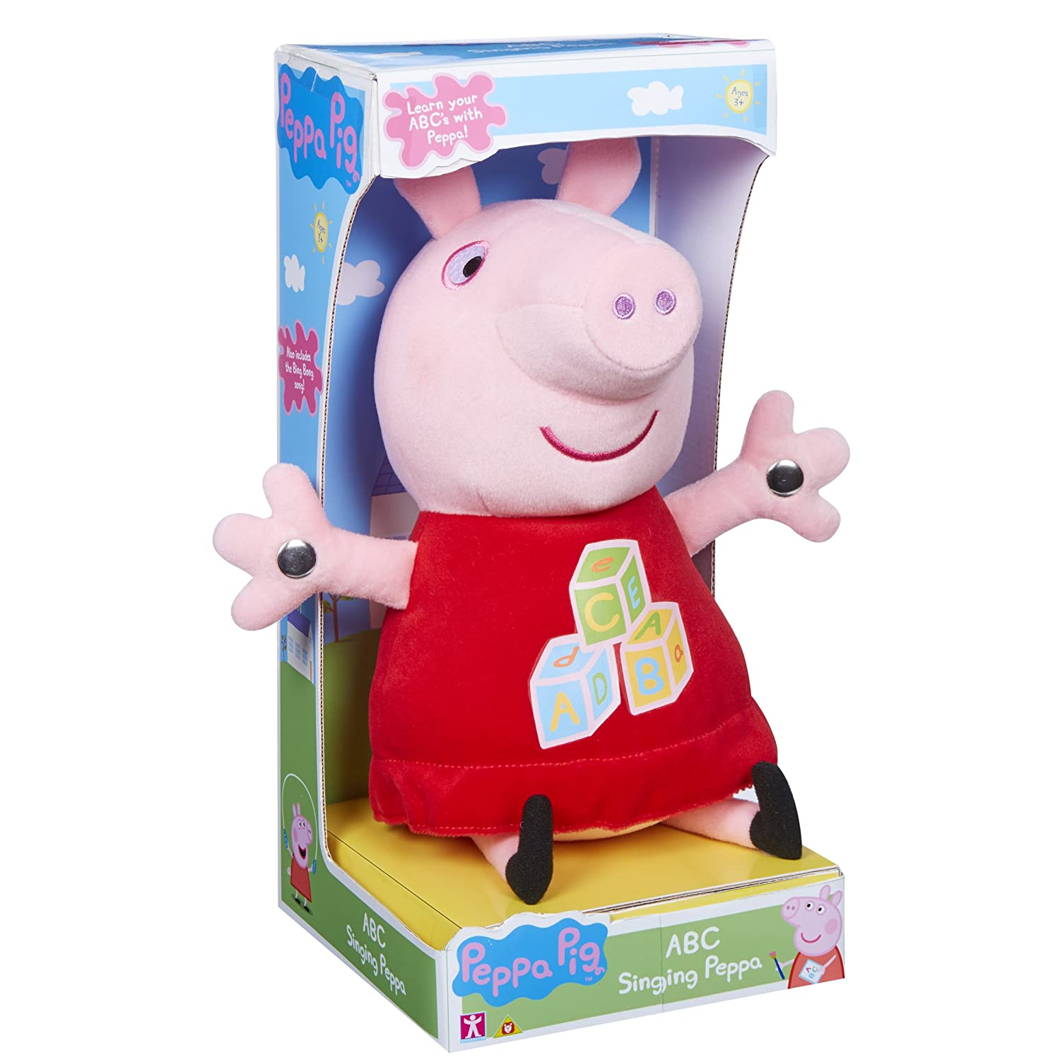 Peppa Pig 06386 ABC Singing Plush Toy Character Options