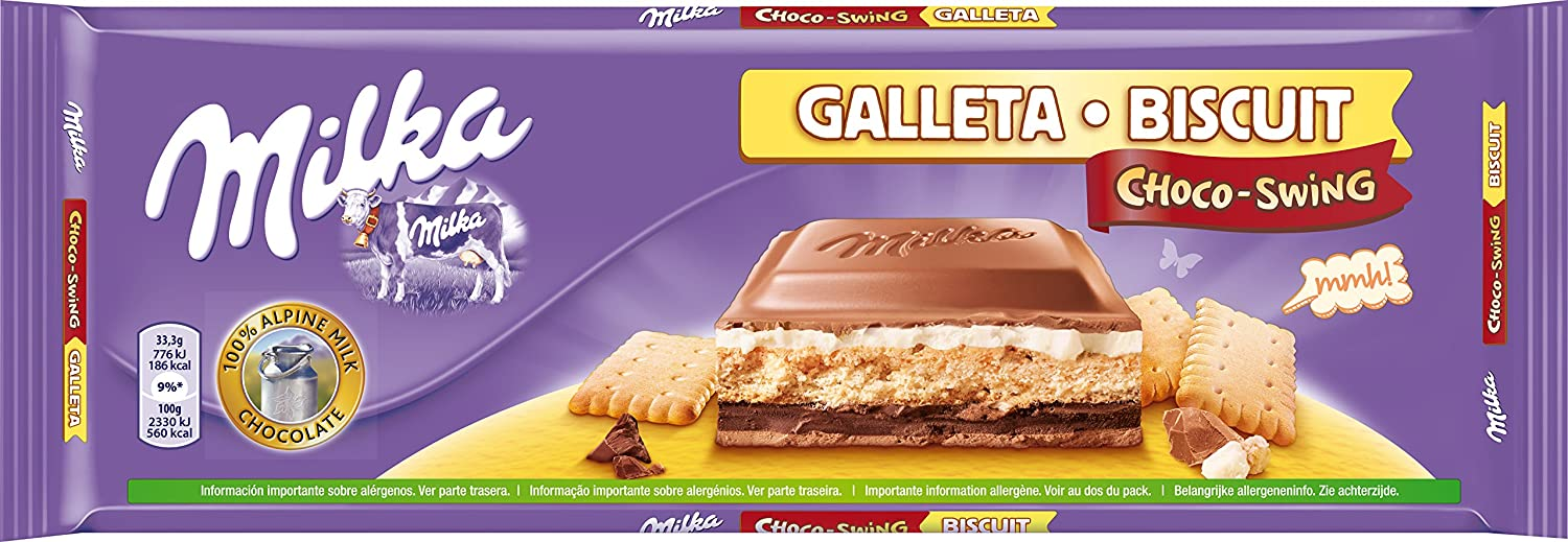 Milka Choco-Swing Tableta de Chocolate y Galleta con Leche - 300 g: Amazon.es: Amazon Pantry