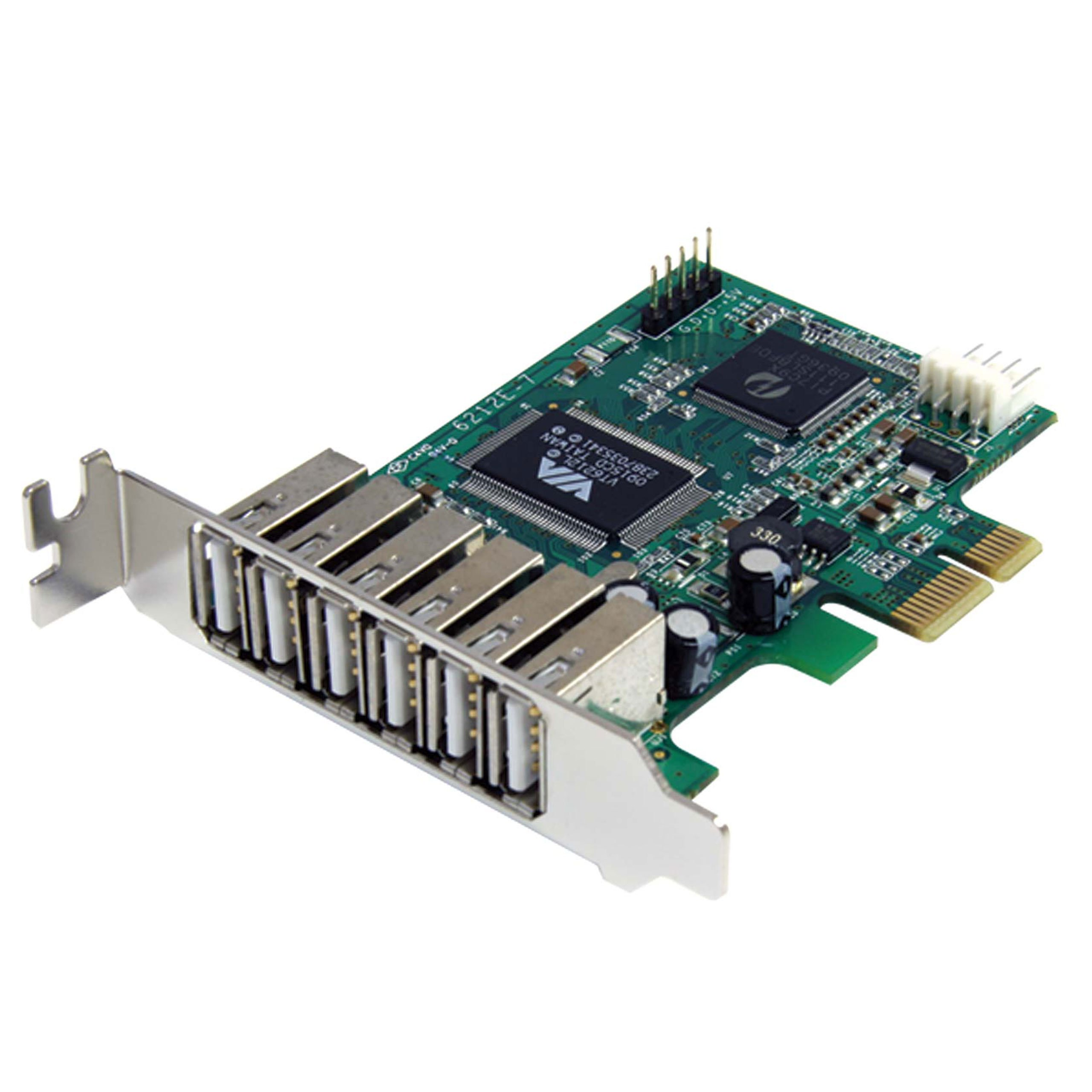 StarTech.com 7 Port PCI Express Low Profile High Speed USB 2.0 Adapter Card - PCIe USB 2.0 Card - PCI-E USB 2.0 Card