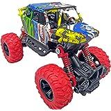Popsugar Pull Back Rock Crawler Monster Truck with Rubber Wheels for Kids | Spring Shock Absorber Suspension System