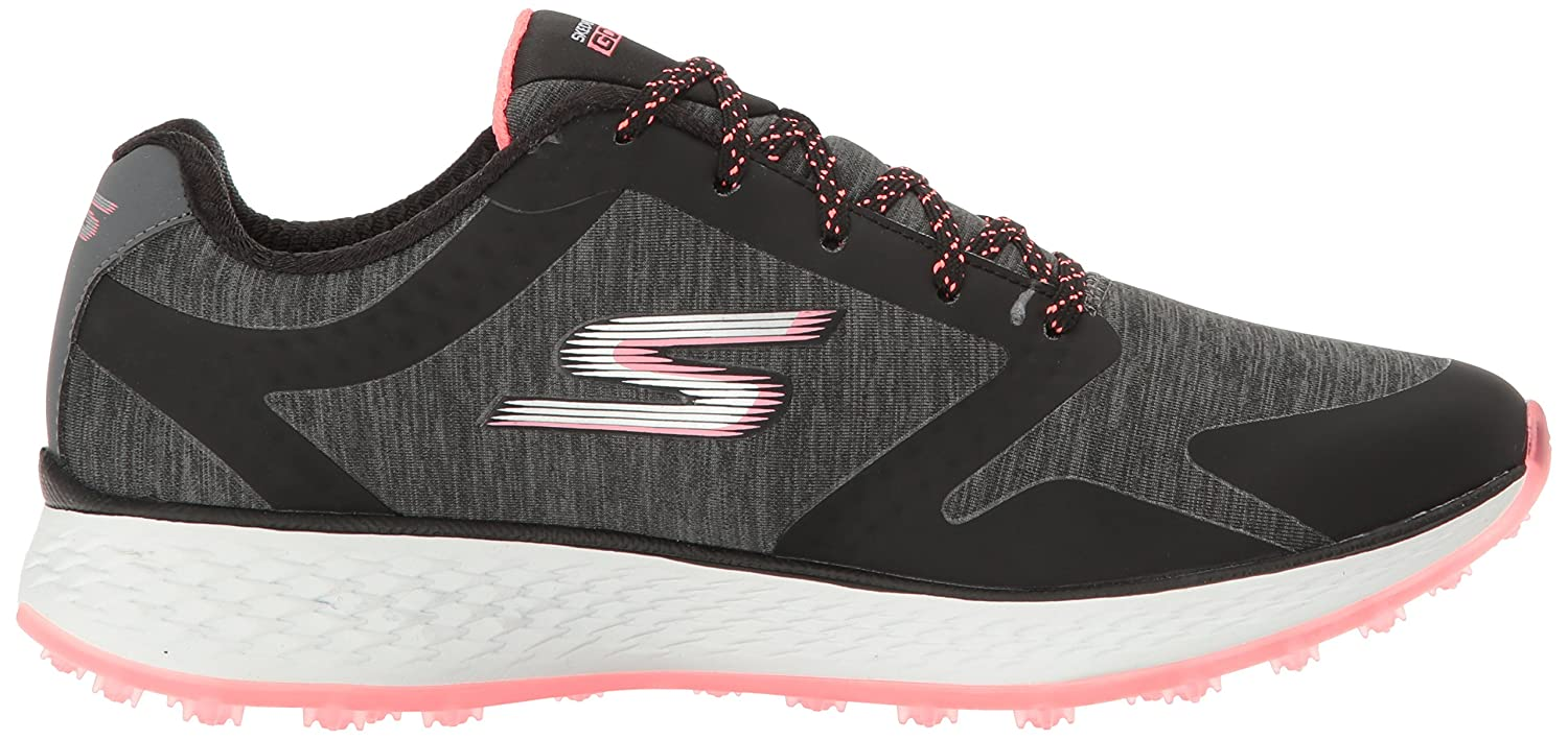 Skechers Women's Go Golf Birdie Golf Shoe B01JJ1HGHA 11 B(M) US|Black/Hot Pink Heathered