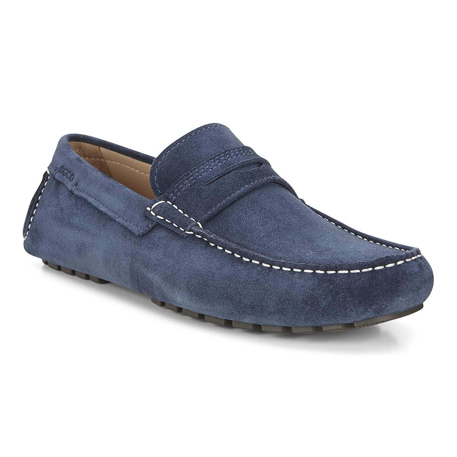 c556328c ECCO Men's Dynamic Moc 2.0 Penny Slip-On Loafer, Denim Blue, 46 EU ...