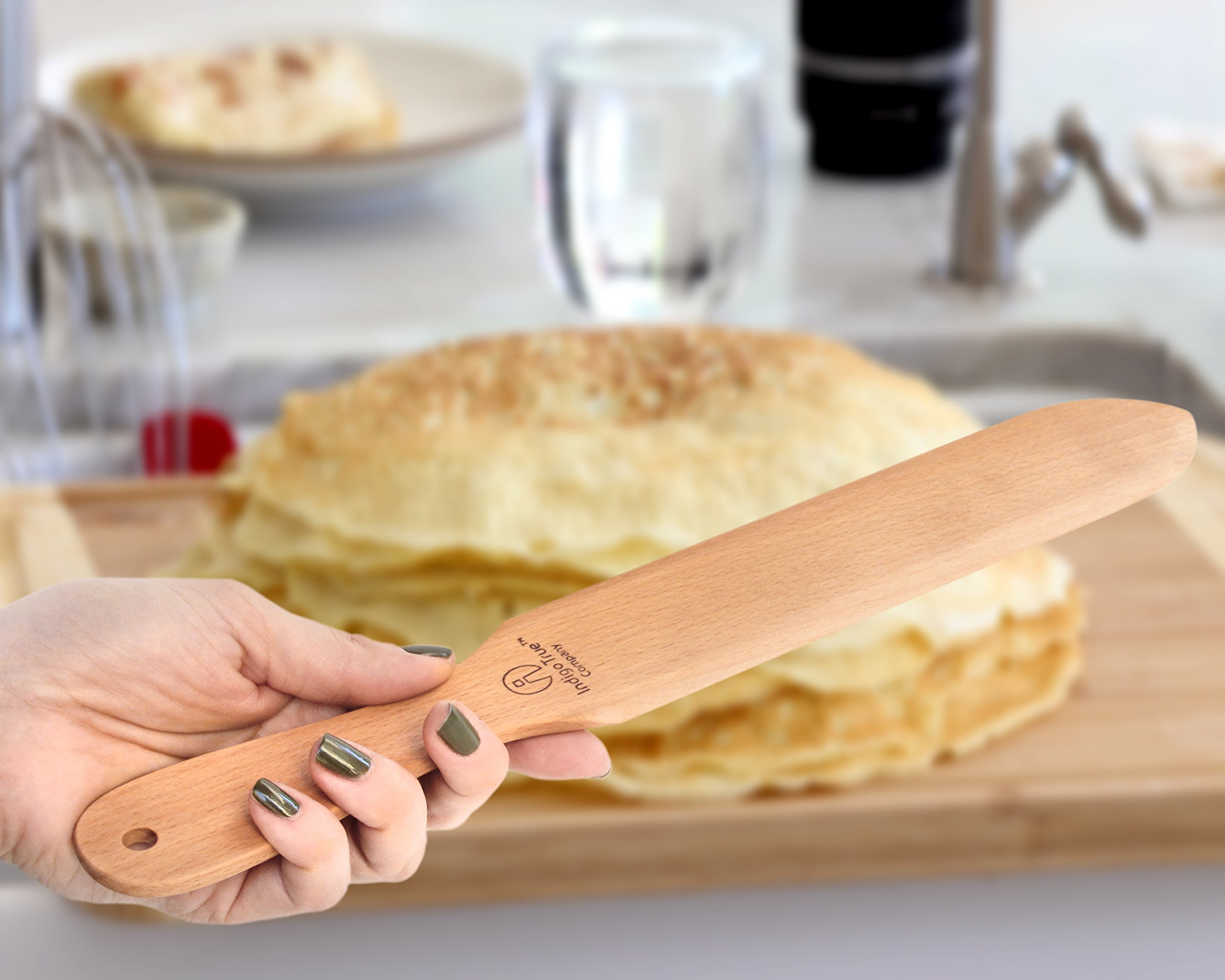 "The ORIGINAL Crepe Spreader and Spatula Kit - 2 Piece Set (4"" Spreader and 14"" Spatula) Convenient Size to Fit Small Crepe Pan Maker 