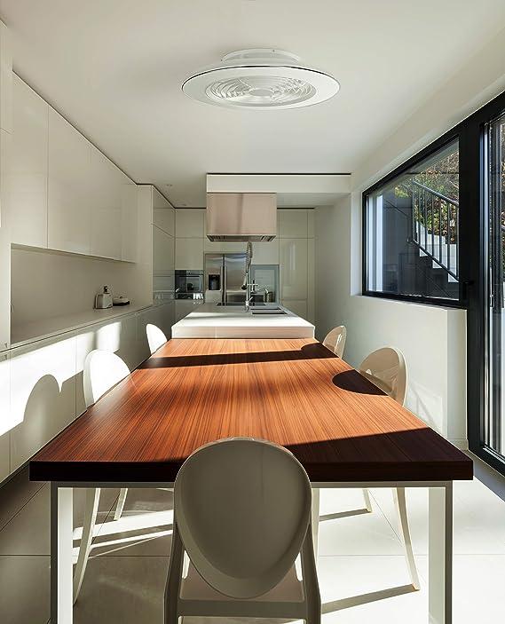 Plafón con ventilados ALISIO - Iluminación interior MANTRA - LED 70W Ventilador 30W - Dimable 2700K-5000K - color ...
