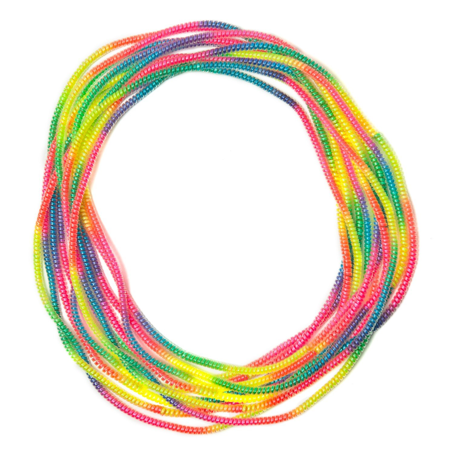 Fidget Jewelry Pain Free Necklace Fun Sensory Motor Aid Speech And Communication Aid Great For Autism And Sensory-Focused Kids - 12 Pack Rainbow Colors by Chewzy Sensations