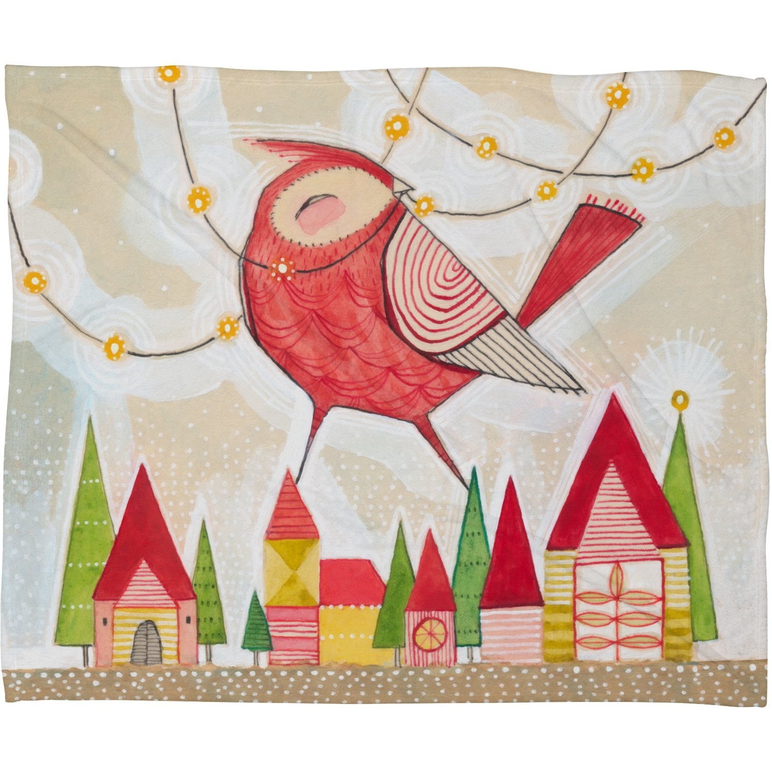 60 x 80 Deny Designs Cori Dantini New Bird In Town Fleece Throw Blanket
