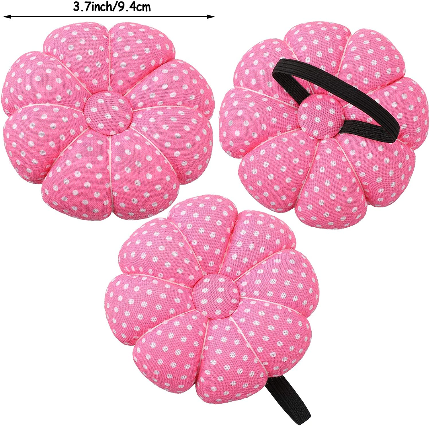 Cushion Wristband Holder Magnetic Pin Holder Jexine Magnetic Wrist Sewing Pincushion and Cotton Wrist Pin Cushions with 100 Pieces Sewing Pins 1.5 Inch Ball Head Straight Pins for Hand Sewing Craft