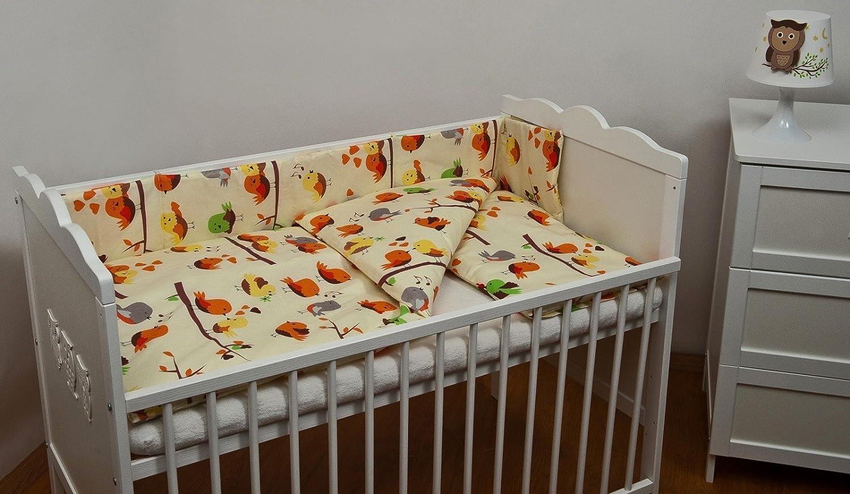 Set completo di 6 pezzi lenzuola per lettino 70x140 neonato bambino motivo: orsetto grigio