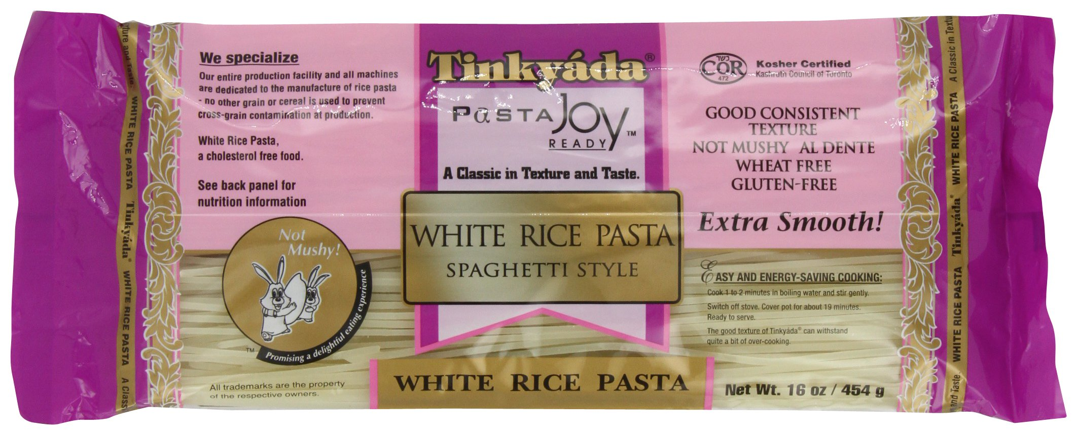 Food Directions Inc. (C) Pasta, Spaghetti, White Rce, 16-Ounce (Pack of 6)