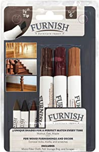 Handy Gourmet IdeaWorks Furniture Repair Kit, Walnut, Mahogany, Cherry-1/8 Tip, Set of 6, Regular, Dark
