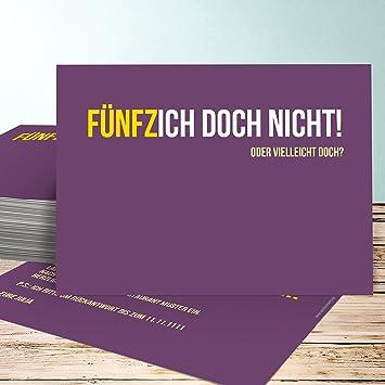 Einladungskarten 50 Geburtstag Selbst Gestalten Funfzich 5 Karten