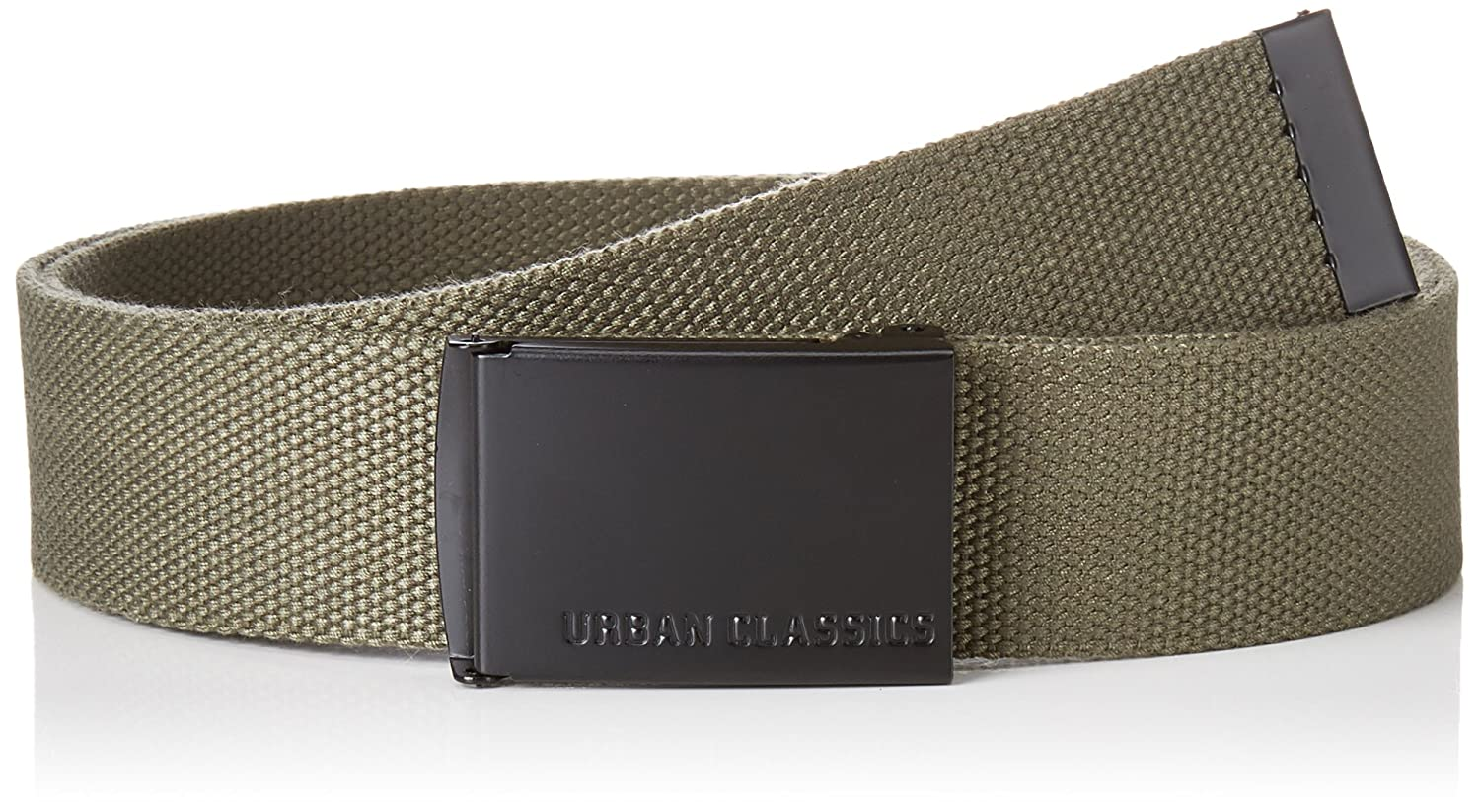 Urban Classics adjustable up to 120cm CANVAS fabric belt One Size