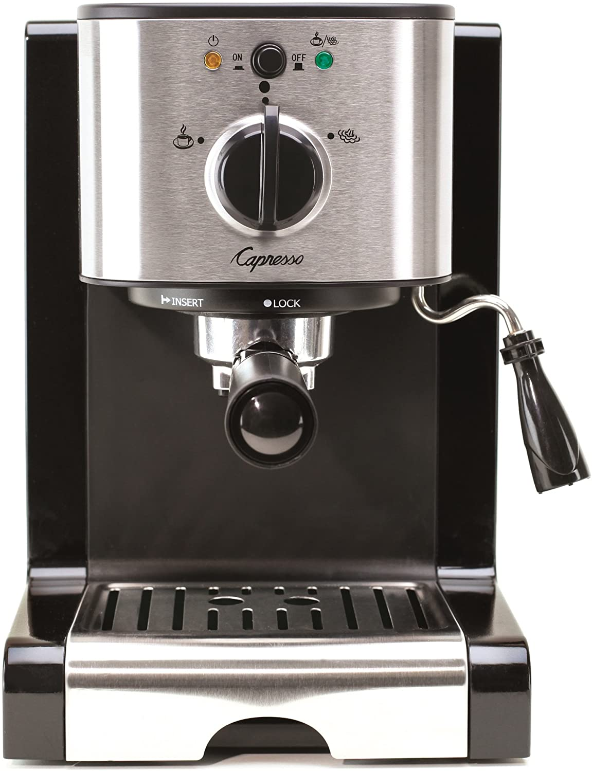 Capresso 117.05 Stainless Steel Pump Espresso and Cappuccino Machine EC50 Black//Stainless