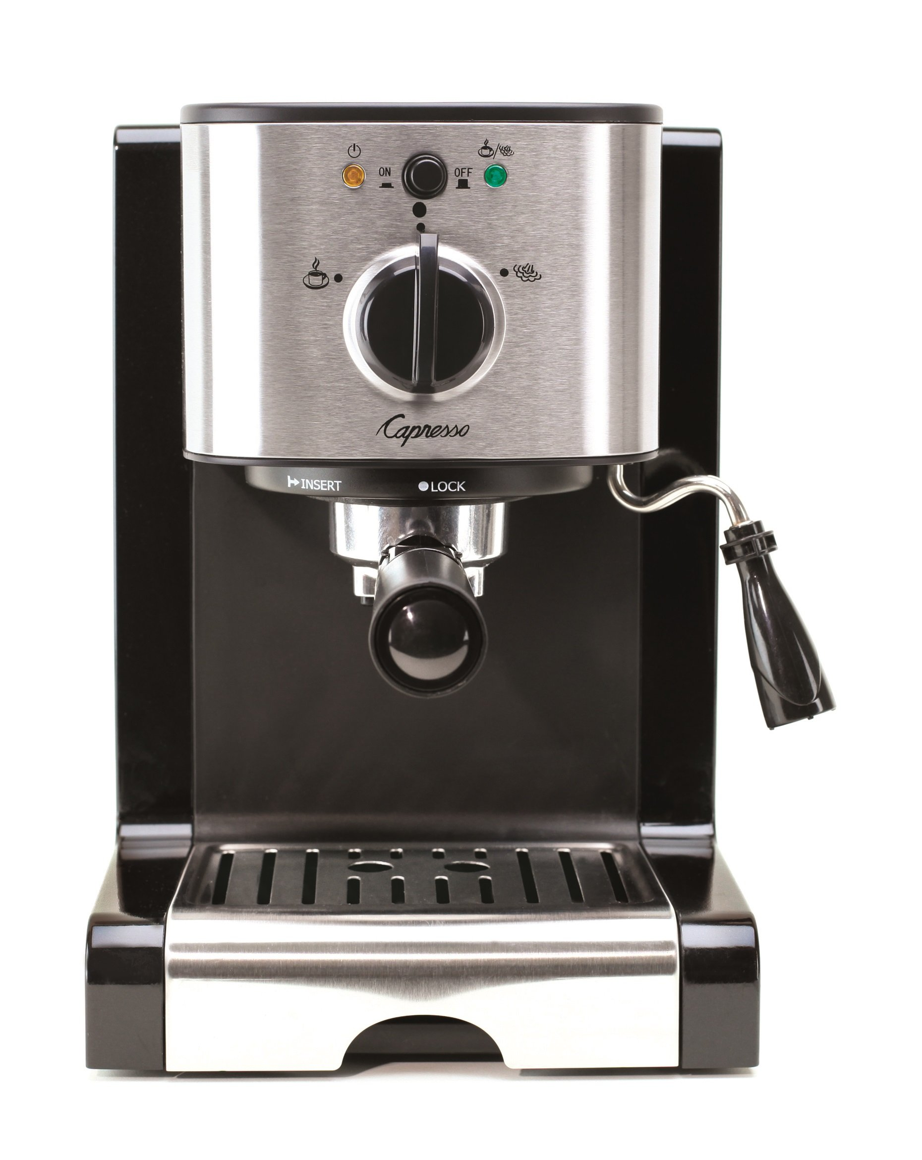 Capresso 116.04 Pump Espresso and Cappuccino Machine EC100, Black and Stainless by Capresso