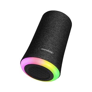 Portable Bluetooth Speaker, Soundcore Flare Wireless Speaker Anker, Waterproof Party Speaker 360° Sound, Enhanced Bass & Ambient LED Light, IP67 Dustproof & Waterproof 12-Hour Battery Life