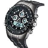 腕時計、メンズ腕時計、 ミリタリー クラッシック ムーブメント アウトドア LEDライトアラーム カレンダー シリコン 電子軍事腕時計