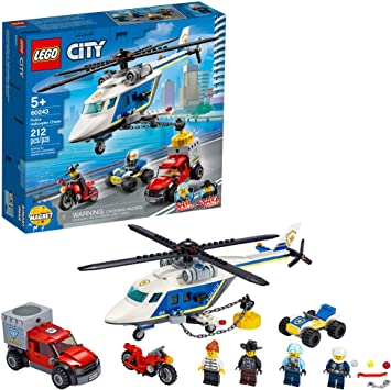 Lego City Police Helikopter Chase 60243 Polizei Spielset Bausätze Für Kinder New 2020 212 Teile Amazon De Spielzeug