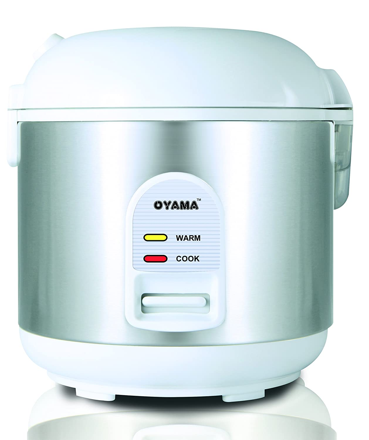 Oyama CFS-F10W 5 Cup Rice Cooker, Stainless White