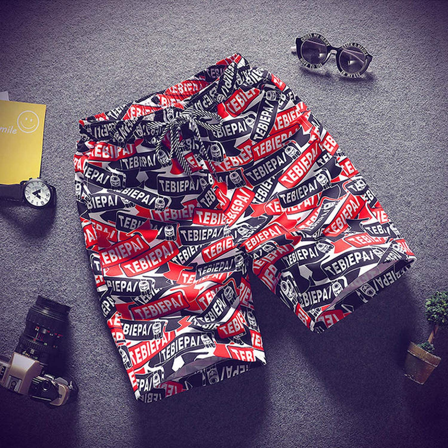 CuriousLady 2019 Mens Beach Shorts Personality Printing Summer Thin Section Breathable Comfort M-4XL,16,XL
