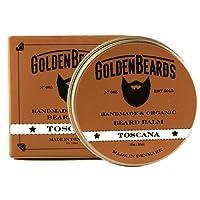 Golden Bears, balsamo biologico per la barba Toscana, 30ml, 100% naturale, con oli di jojoba, argan e albicocca, idrata la barba e la pelle, prodotto ammorbidente, il set regalo perfetto per la barba