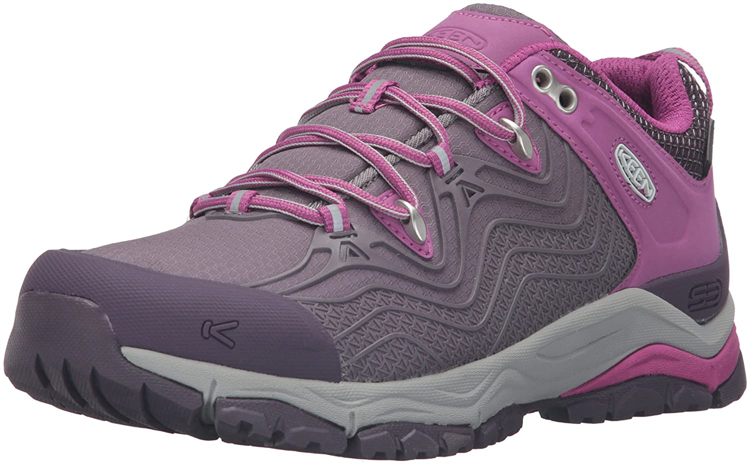 KEEN Women's Aphlex Waterproof Shoe B019FCA99K 5.5 B(M) US|Plum/Shark