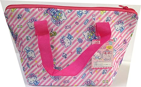 Sanrio Hello Kitty Waterproof Lunch Box Bento Carry Insulated Thermal  Lining Zipper Tote Picnic Food Storage 53698a8e90ef7